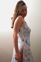 Nonnude Brunette Teen In Nightdress - Picture 1