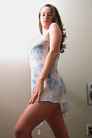 Nonnude Brunette Teen In Nightdress - Picture 11