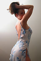 Nonnude Brunette Teen In Nightdress - Picture 6