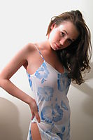 Nonnude Brunette Teen In Nightdress - Picture 8