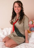 Stephanie In A Girl Guides Costume - Picture 1