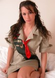 Stephanie In A Girl Guides Costume - Picture 11