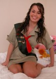 Stephanie In A Girl Guides Costume - Picture 3