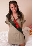 Stephanie In A Girl Guides Costume - Picture 6