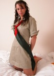 Stephanie In A Girl Guides Costume - Picture 7