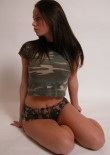 Brunette Busty Teen In Camo - Picture 12