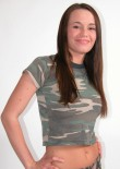 Brunette Busty Teen In Camo - Picture 2