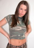 Brunette Busty Teen In Camo - Picture 4