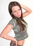Brunette Busty Teen In Camo - Picture 6