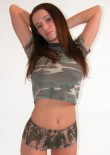 Brunette Busty Teen In Camo - Picture 7